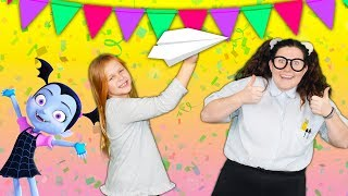 Assistant and Gekko and Nelly Nancy and Vampirina Throw a Huge Birthday Party For Youtube Kids