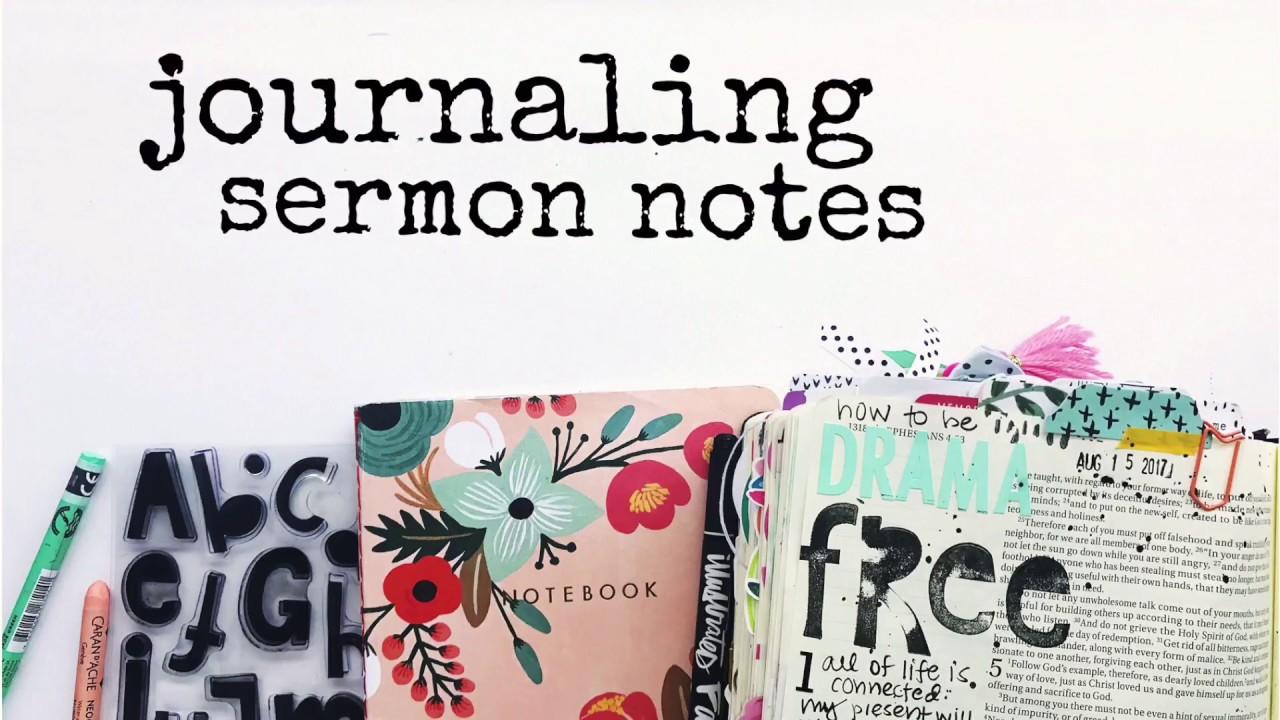 BIBLE JOURNALING SERMON NOTES USING PRINT & PRAY PIECES!