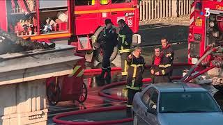La gare de Figeac entièrement détruite par un incendie