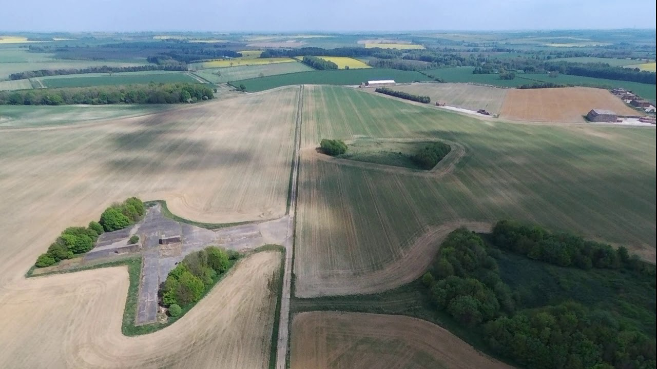 Download Raf Ludford Magna from the air,8th May 2020 VE Day.