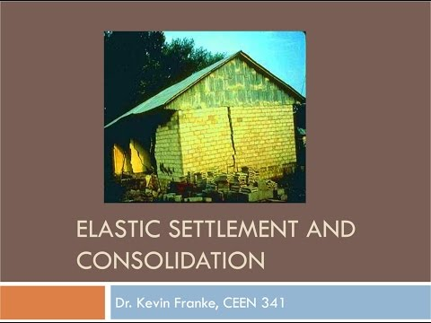 CEEN 341 - Lecture 15 - Elastic Settlement and Primary Consolidation Settlement