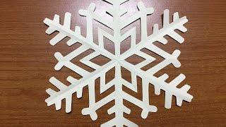How to make Origami Christmas Snowflake - Paper Craft Snowflake