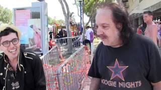 What porn-star, Ron Jeremy, showed Gay Pride Parade spectators he could do