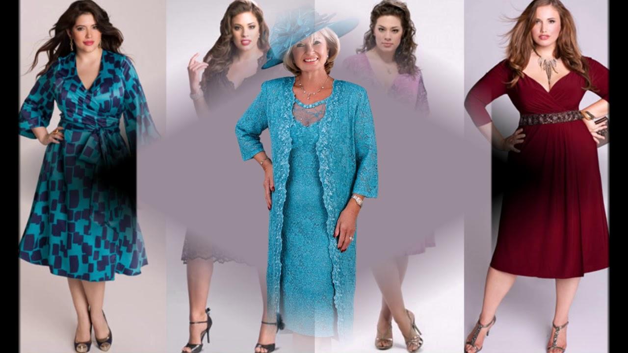 ab8da4ba588 Платья для полных женщин 40- 50 лет - YouTube