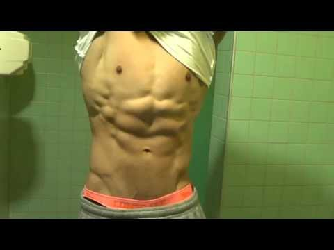Abdominal flexing - 6 pack abs definition Full HD 1080p