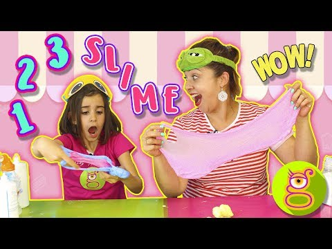 1 2 3 SLIME ft. Tremending Girls |UN DOS TRES SLIME !! Juegos con Slime