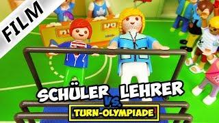 Playmobil Film Deutsch LEHRER VS. SCHÜLER: DIE TURN-OLYMPIADE! WER IST SPORTLICHER? Familie Vogel