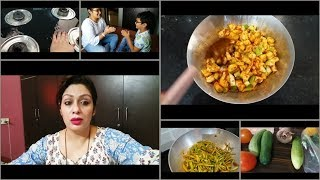 Special Diet Chart 🍽️ Vacation 👿 Indian Lunch Routine   Instant Mango Pickle recipe