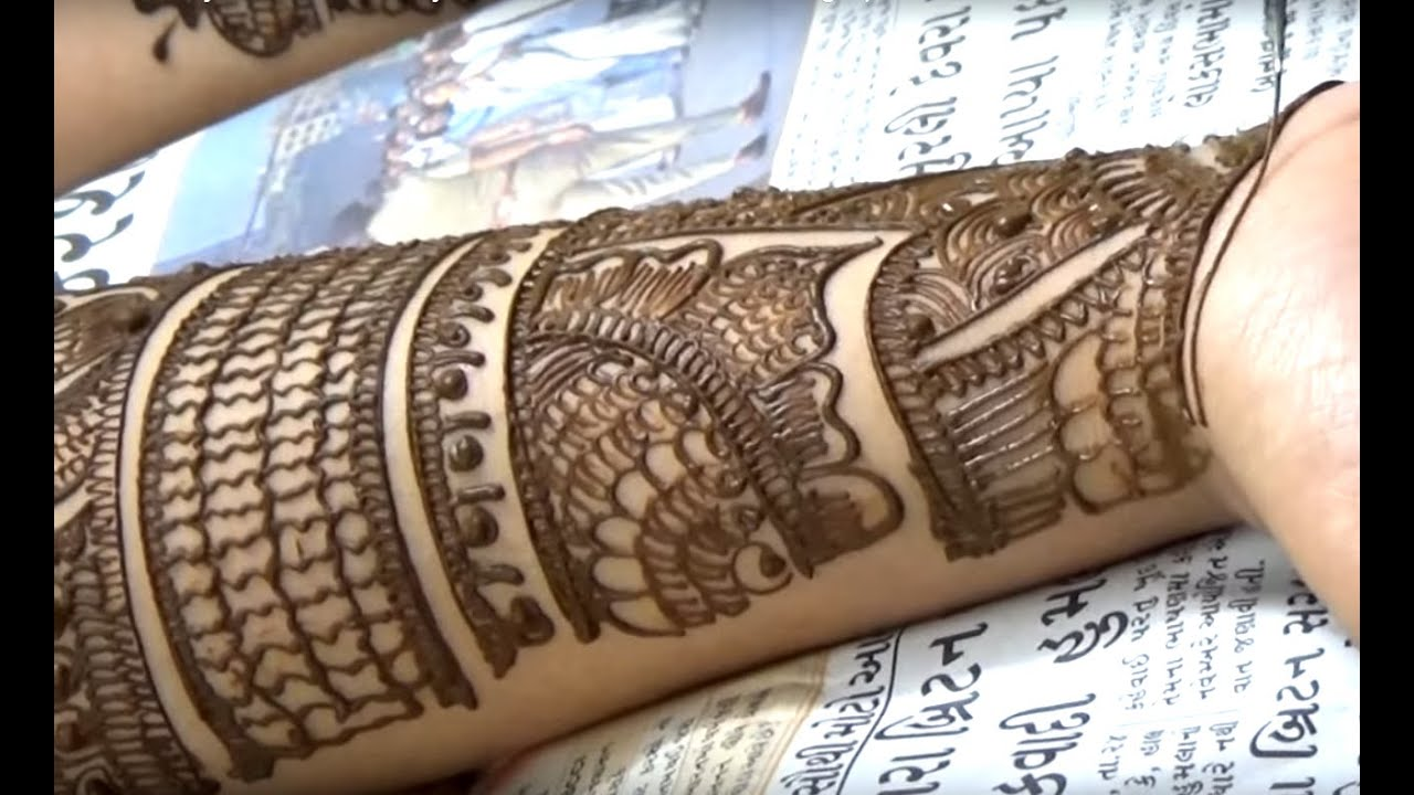 Mehndi Hands With Watch : Beautiful bridal mehendi for full hand dulhan henna mehndi