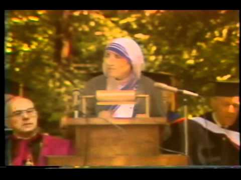 Bl. Mother Teresa's Address at Thomas Aquinas College, Part 1