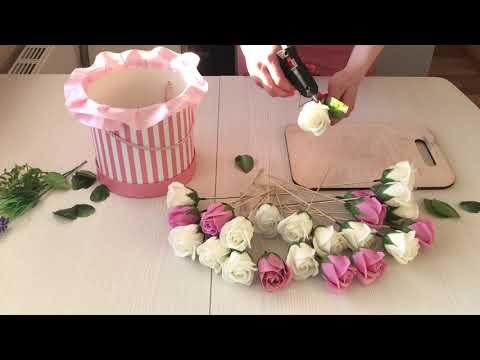 Мыльные розы своими руками. Сборка букета. Как сделать букет из мыльных цветов.