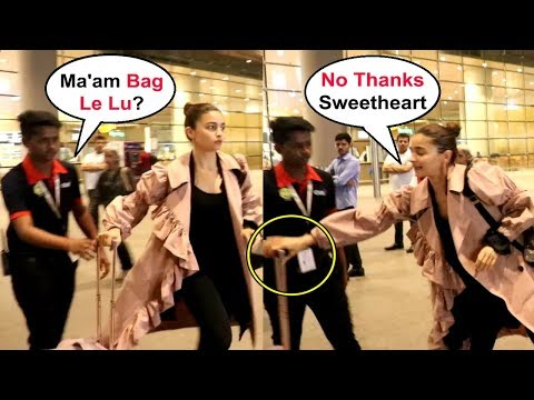 Alia Bhatt Carries Her Own Luggage At Airport Mp3