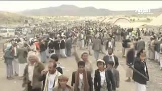 انصار المؤتمر الشعبي يتظاهرون مع الحوثيين في صنعاء