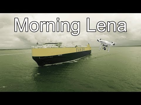 Morning lena Vehicles Carrier Chased By Drone