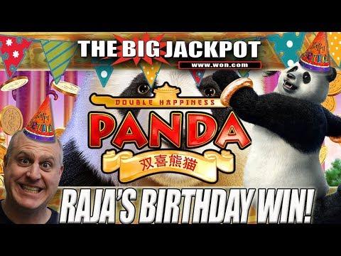 🎂HAPPY BIRTHDAY TO THE RAJA!!!! 🎂TIME TO CELEBRATE! 🎉DOUBLE HAPPINESS PANDA JACKPOT!