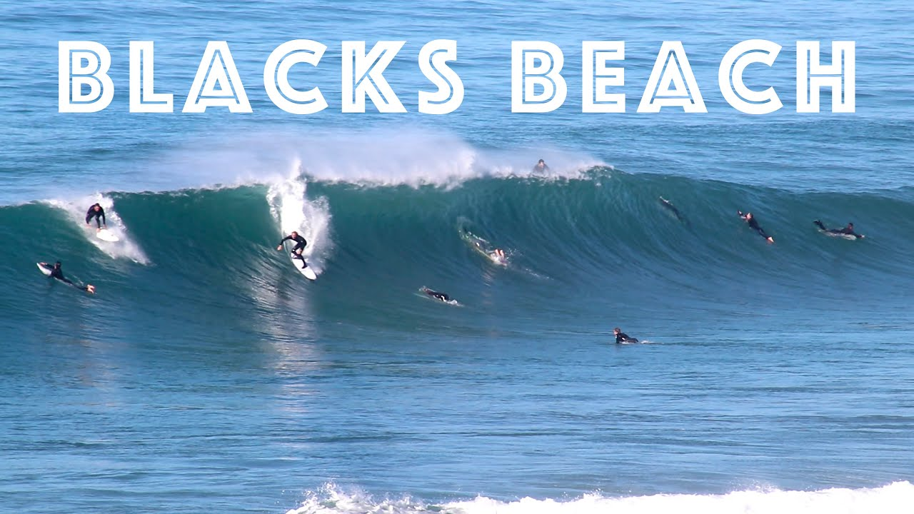 Surfing at Blacks Beach / 5-8 Feet Offshore!