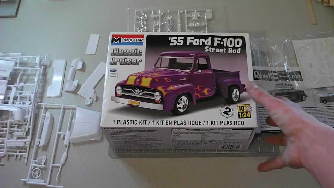 Monogram 55 Ford F 100 First Impressions Youtube 1955 F100 Street Rod