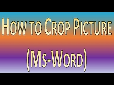 Crop Picture in Ms Word