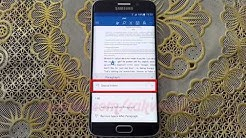 Microsoft Word For Android : How to Special independent paragraph in Samsung Galaxy S6