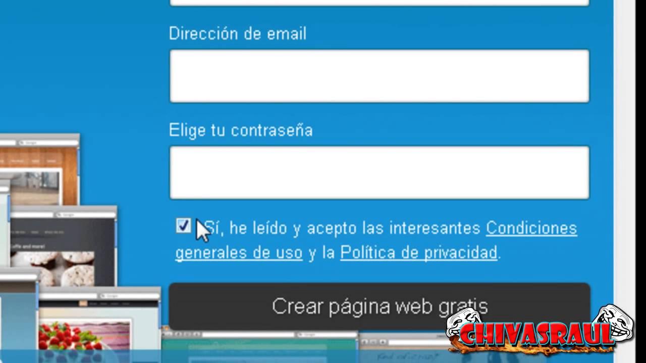 Como crear una pagina web gratis jimdo 2014 youtube Crear website