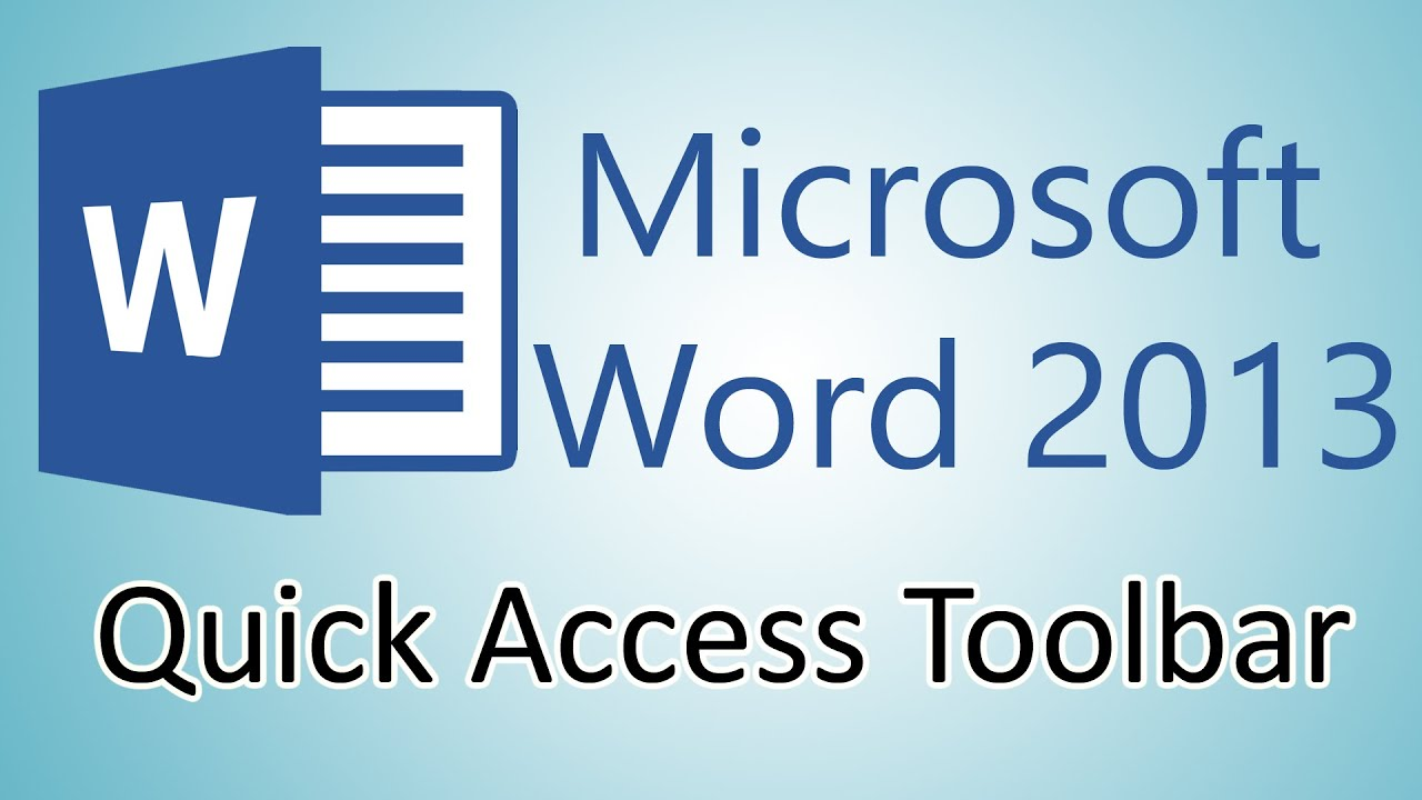 Microsoft word access tutorial
