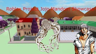 Roblox Project Jojo Mandom Showcase!