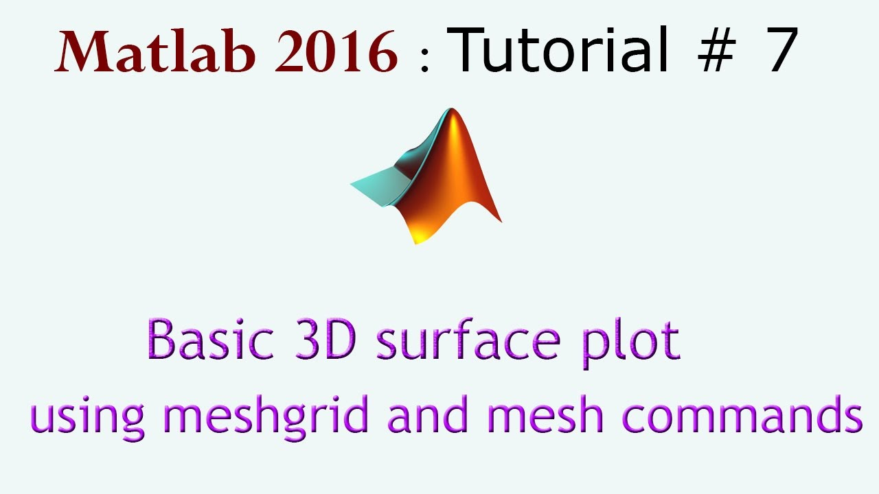 Basic 3d surface plot in Matlab using meshgrid and mesh commands