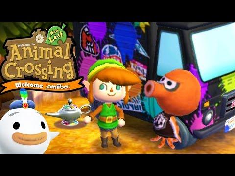 Animal Crossing: New Leaf - Welcome amiibo Update! - Splatoon RV Inkwell - 3DS Gameplay Walkthrough