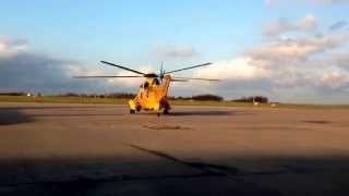 RAF Westland Sea king Taxing from the Western Apron at East Midlands Airport