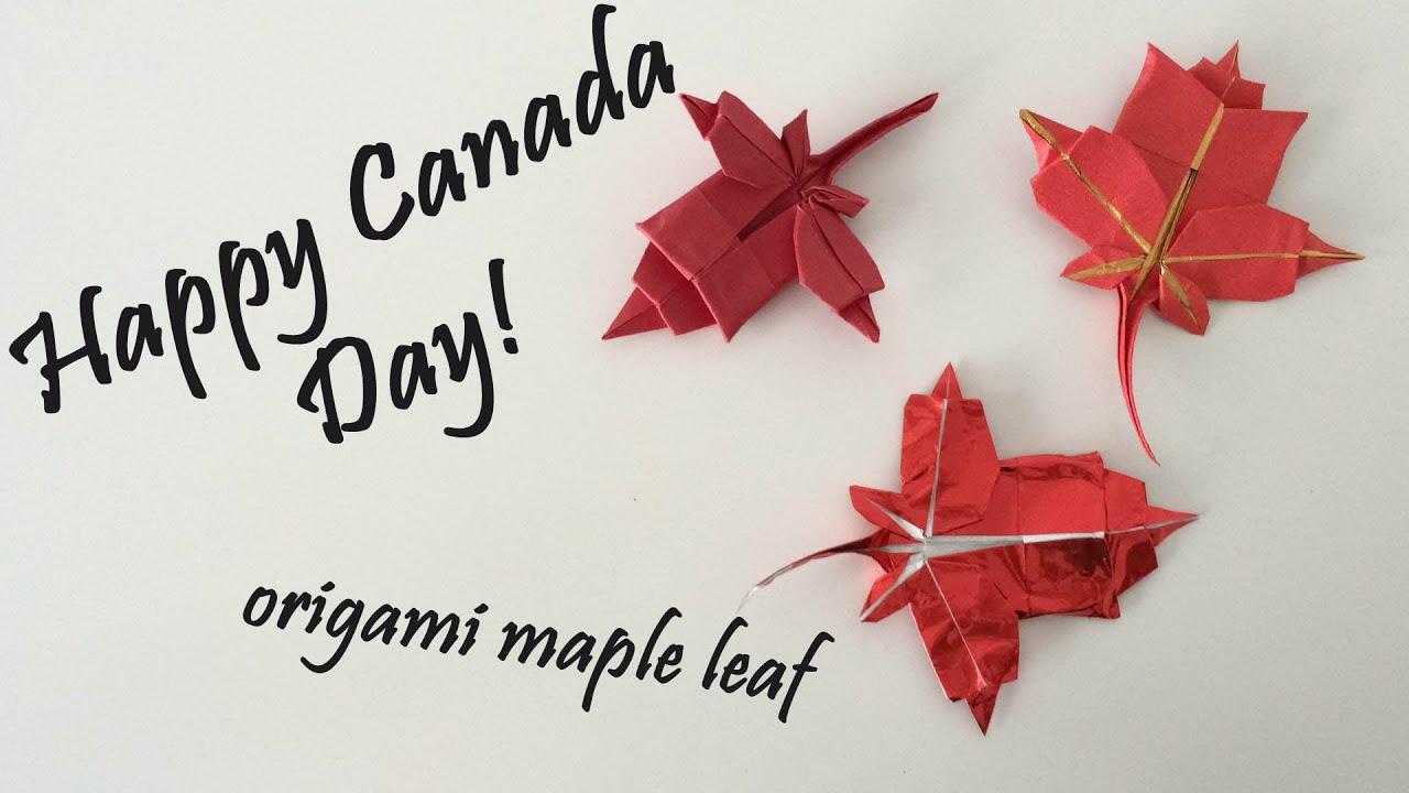 Origami - Maple Leaf by Brian Chan || CANADA DAY DIY ... - photo#16