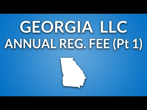 Georgia LLC - Annual Registration Fee (Overview & Registration)