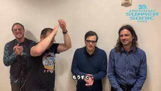 WEEZER message for SUMMER SONIC 2019
