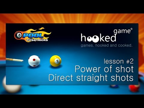 8 Ball Pool. Lesson #2. Power of shot. Direct straight shots.