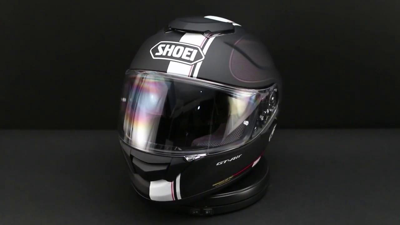 shoei gt air wanderer black helmet 360 view youtube. Black Bedroom Furniture Sets. Home Design Ideas