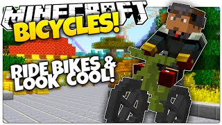 BICYCLES IN VANILLA MINECRAFT! | Jump & Do Tricks! (Minecraft Vanilla Mod)