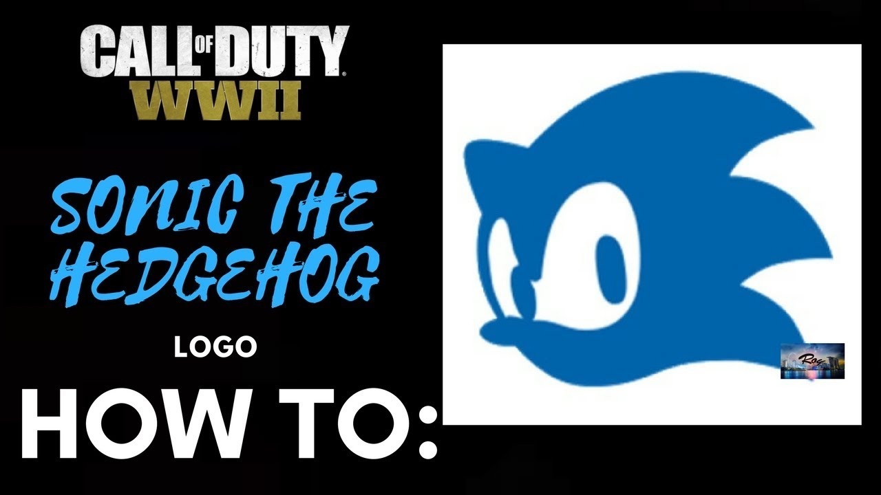 How To Emblem Sonic The Hedgehog On Wwii Youtube