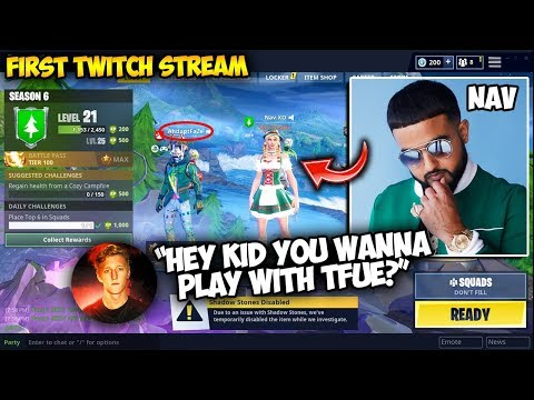 "Nav TROLLED A Kid Wanting To Play With Tfue! ROASTS Chat Saying ""Yosemite Mic"" in First Ever Stream!"