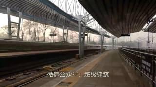 實拍北京西站高鐵列車CRH-380B、CRH-380AL依次出站