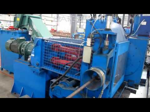bar peeler+bar straightener+bar polisher working by Yantai Haige China