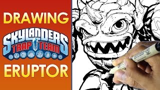 DRAWING SKYLANDERS ERUPTOR - DRAWING WITH MY SON