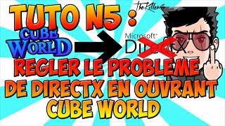 [TUTO] Régler le problème de DirectX sur le jeu Cube World ! [Fr]