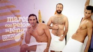 Sexo interactivo en la sauna gay / MARCOS con pelos en la lengua 03x02