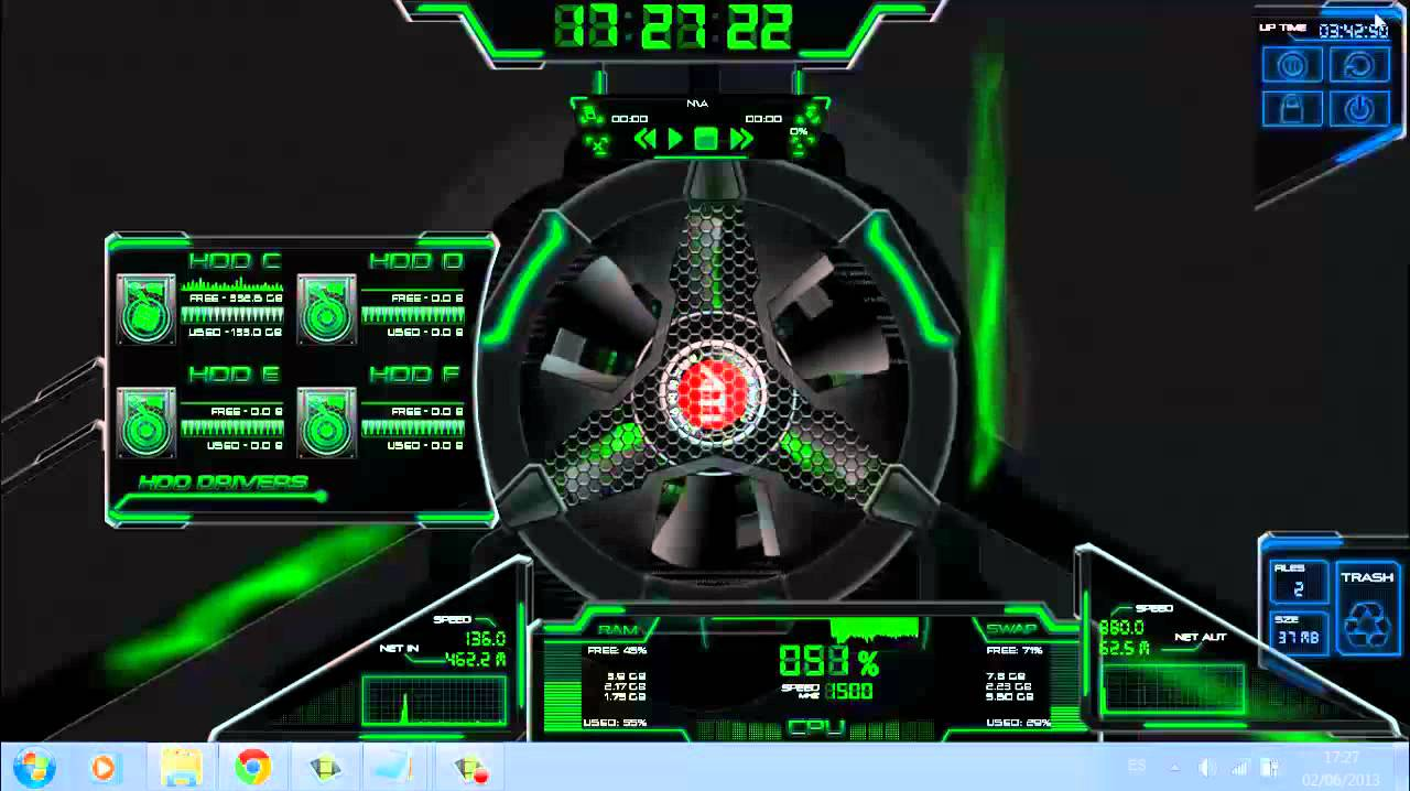 Skin rainmeter verde bien explicado 2013 youtube for Bureau windows 7 rainmeter