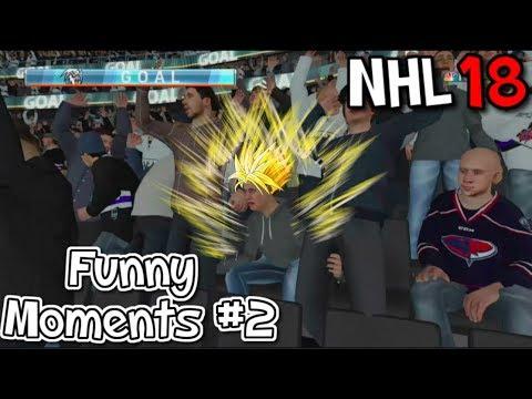 NHL 18 FUNNY MOMENTS #2!!!