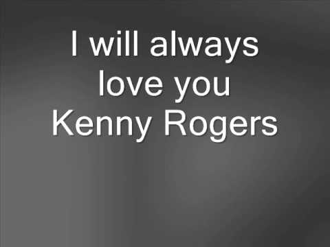 Kenny Rogers I will always love you - YouTube