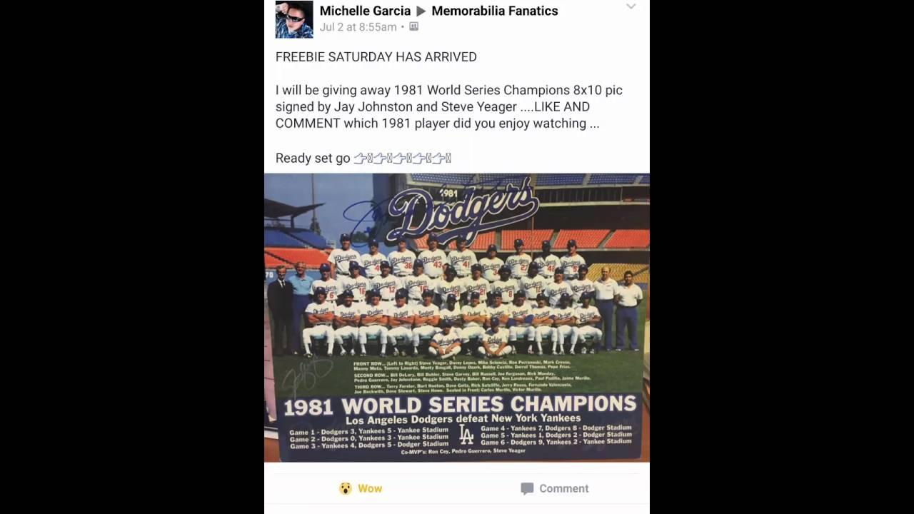 1981 World Series Champions 8x10
