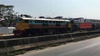 รถไฟไทย Trainthai HD : ขบวน XXXX ต้นทาง - ปลายทาง (รถขนหินโรยทางรถไฟ) (4K 2160p)