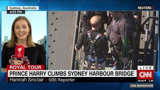 Prince Harry climbs Sydney Harbor Bridge to kick off Invictus Games