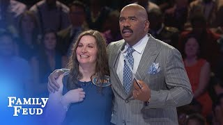 The Eggeruds get their MONEY'S WORTH!!! | Family Feud