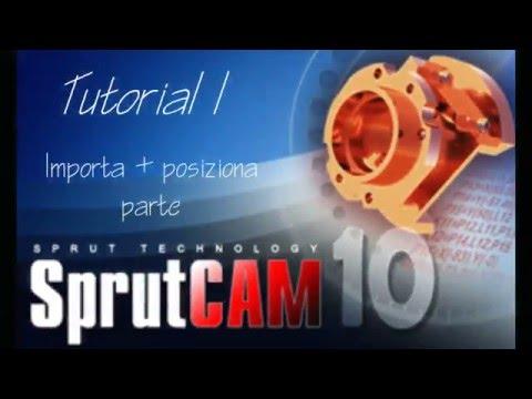 SprutCAM:Tutorial_1 Importa + posiziona